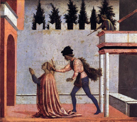 Domenico Veneziano Martyrdom of St Lucy (predella 5) - Hand Painted Oil Painting