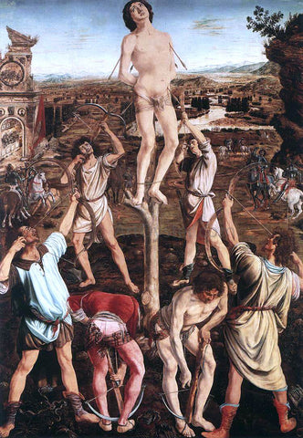 Antonio Del Pollaiuolo Martyrdom of St Sebastian - Hand Painted Oil Painting