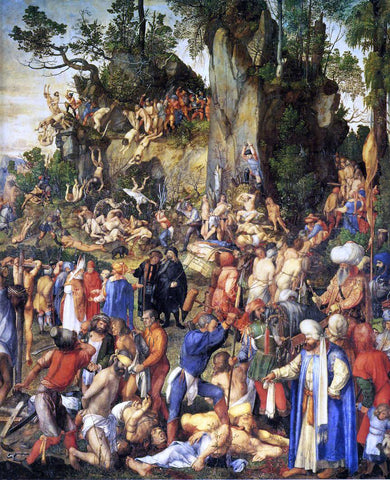Albrecht Durer Martyrdom of the Ten Thousand - Hand Painted Oil Painting