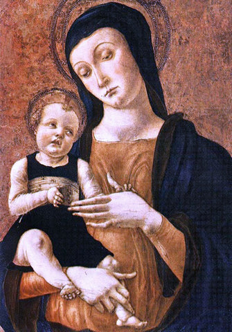 Alvise Vivarini Mary and Child - Hand Painted Oil Painting