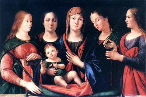Alvise Vivarini Mary and Child with Sts Mary Magdalene and Catherine - Hand Painted Oil Painting