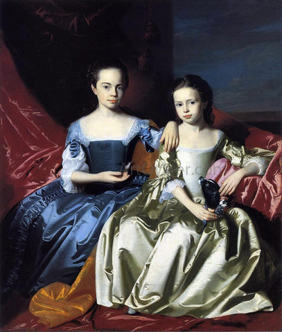 John Singleton Copley Mary and Elizabeth Royall - Hand Painted Oil Painting