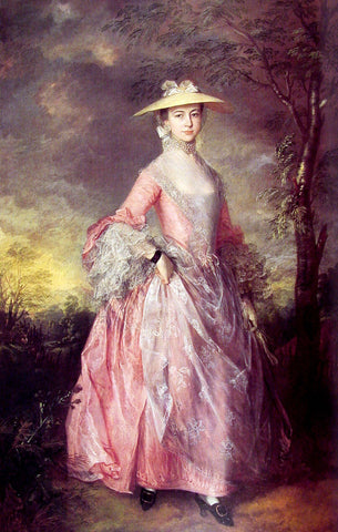 Thomas Gainsborough Mary, Countess of Howe - Hand Painted Oil Painting