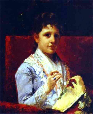 Mary Cassatt Mary Ellison Embroidering - Hand Painted Oil Painting