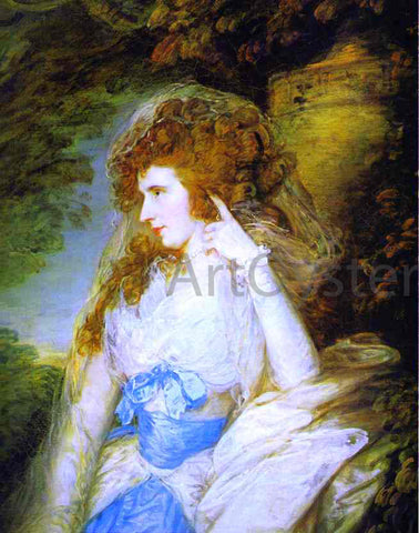 Thomas Gainsborough Mary, Lady Bate-Dudley - Hand Painted Oil Painting