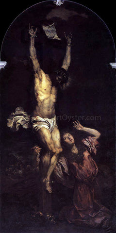 Giovanni Battista Langetti Mary Magdalene at the Foot of the Cross - Hand Painted Oil Painting