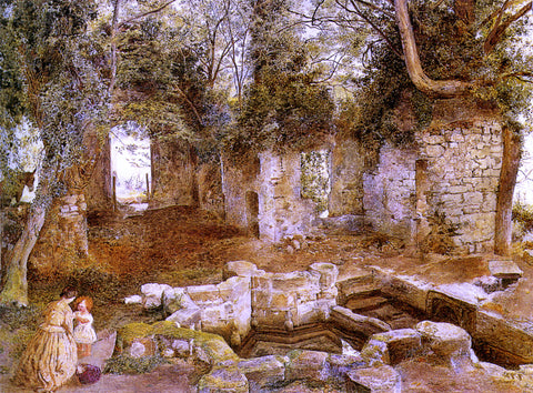 William Davis Marys Well near Saint Asaph - Hand Painted Oil Painting