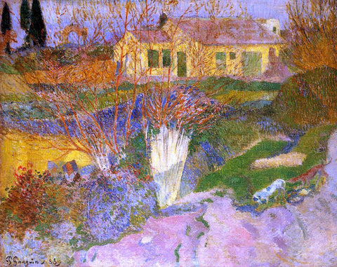 Paul Gauguin Mas, near Arles - Hand Painted Oil Painting