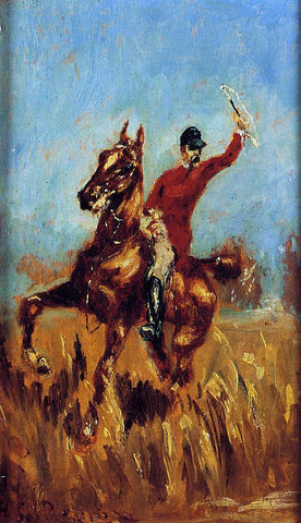 Henri De Toulouse-Lautrec Master of the Hunt - Hand Painted Oil Painting