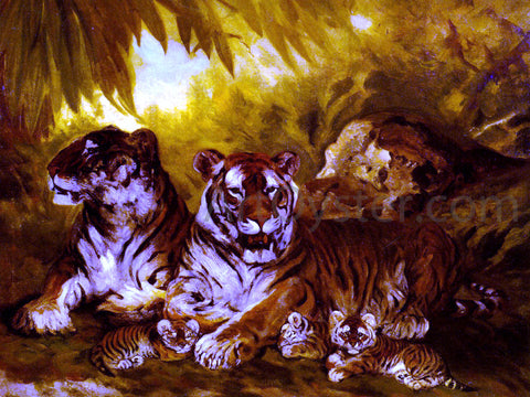 William Henry Drake Masters of the Jungle - Hand Painted Oil Painting