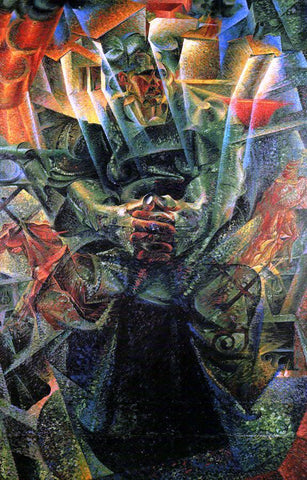 Umberto Boccioni Materia (also known as Portrait of the Artist's Mother) - Hand Painted Oil Painting