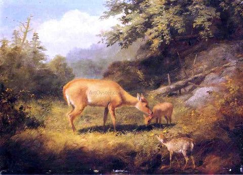Arthur Fitzwilliam Tait Maternal Affection - Hand Painted Oil Painting