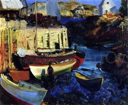 George Wesley Bellows A Matinicus Harbor, Late Afternoon Scene - Hand Painted Oil Painting