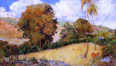 Paul Gauguin Meadow in Martinique - Hand Painted Oil Painting