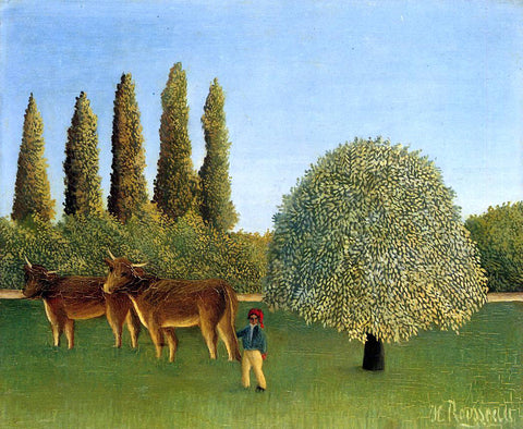 Henri Rousseau Meadowland - Hand Painted Oil Painting