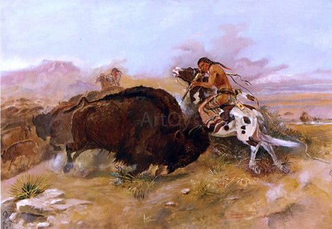 Charles Marion Russell Meat for the Tribe - Hand Painted Oil Painting
