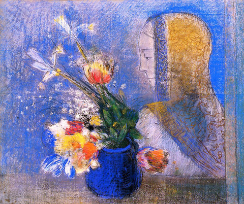 Odilon Redon Meditation - Hand Painted Oil Painting