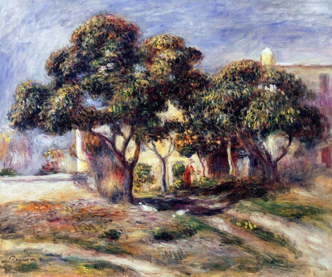 Pierre Auguste Renoir Medlar Trees, Cagnes - Hand Painted Oil Painting