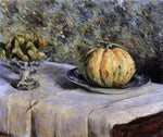 Gustave Caillebotte Melon and Bowl of Figs - Hand Painted Oil Painting
