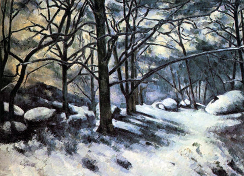 Paul Cezanne Melting Snow, Fontainbleau - Hand Painted Oil Painting