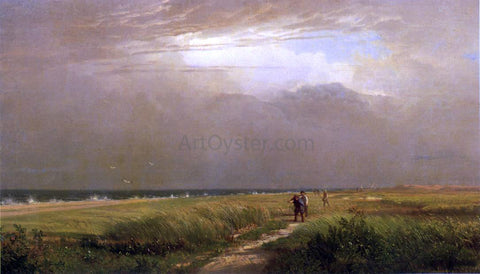 William Trost Richards Men on the Shore - Hand Painted Oil Painting