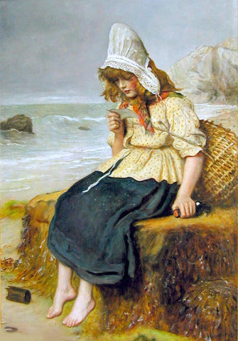 Sir Everett Millais Message from the Sea - Hand Painted Oil Painting