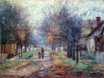 John Ottis Adams Metamora (also known as A Quiet Neighborhood, Metamora) - Hand Painted Oil Painting