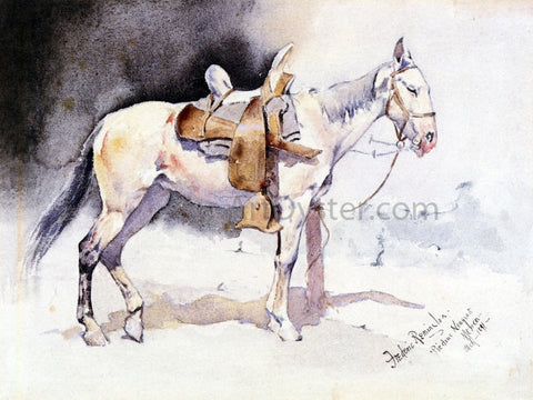 Frederic Remington Mexican Pony - Piedras Neagras - Hand Painted Oil Painting