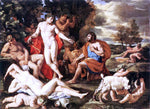 Nicolas Poussin Midas and Bacchus - Hand Painted Oil Painting