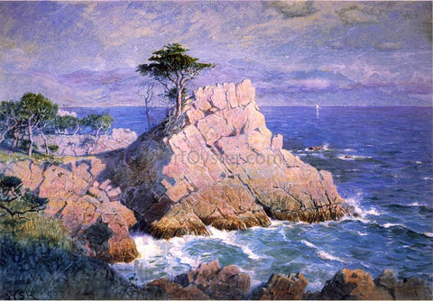 William Stanley Haseltine Midway Point, California (also known as Cypress Point, near Monterey) - Hand Painted Oil Painting