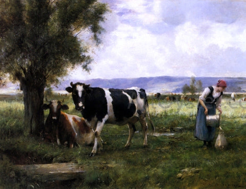Julien Dupre Milking Hour - Hand Painted Oil Painting