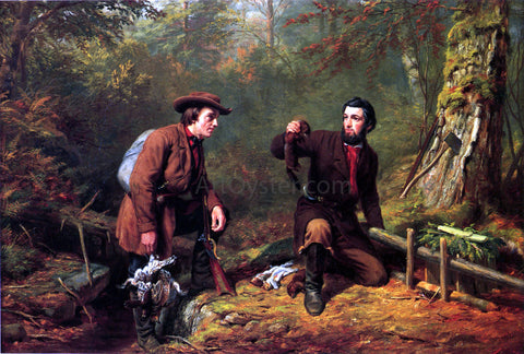 Arthur Fitzwilliam Tait Mink Trapping in Northern New York - Hand Painted Oil Painting