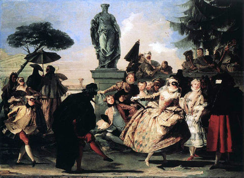 Giovanni Domenico Tiepolo Minuet - Hand Painted Oil Painting