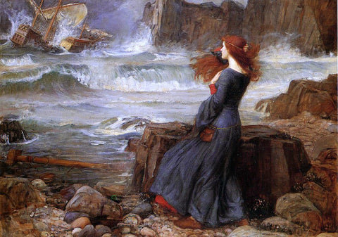John William Waterhouse Miranda - the Tempest - Hand Painted Oil Painting