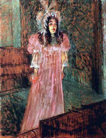 Henri De Toulouse-Lautrec Miss May Belfort - Hand Painted Oil Painting