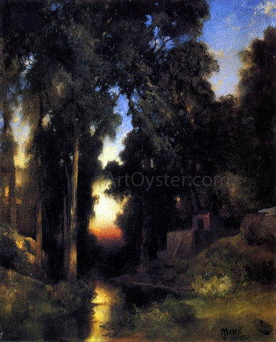 Thomas Moran Mission in Old Mexico - Hand Painted Oil Painting
