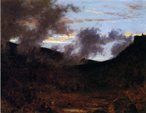 Jervis McEntee Mist Rising near New Paltz - Hand Painted Oil Painting