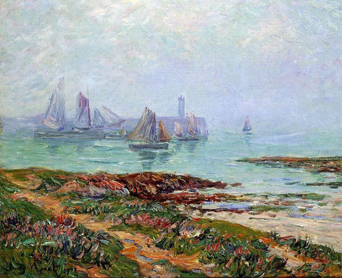 Henri Moret Misty Day at Dielette - the Manche - Hand Painted Oil Painting