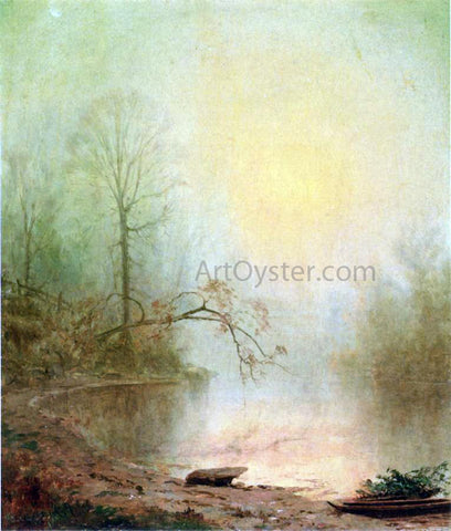 Jervis McEntee Misty Morning - Hand Painted Oil Painting