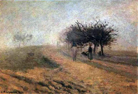 Camille Pissarro Misty Morning at Creil - Hand Painted Oil Painting