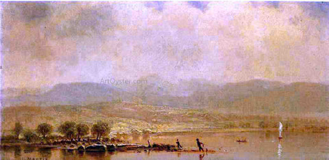 Homer Dodge Martin Misty Morning on the Hudson River - Hand Painted Oil Painting