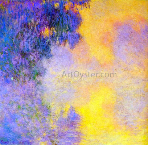 Claude Oscar Monet Misty Morning on the Seine Sunrise - Hand Painted Oil Painting