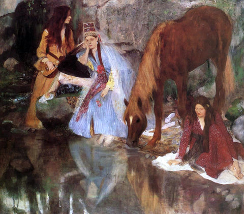 Edgar Degas Mlle Fiocre in the Ballet 'La Source' - Hand Painted Oil Painting