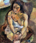 Jules Pascin Model on a Stool - Hand Painted Oil Painting