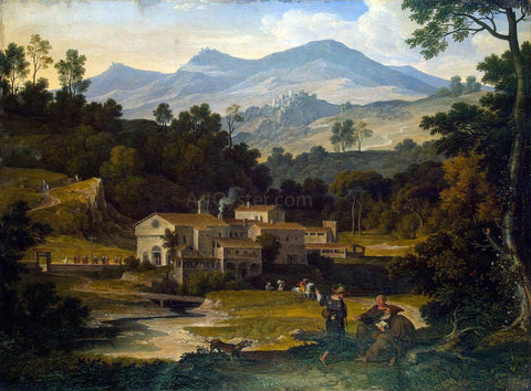 Joseph Anton Koch Monastery of San Francesco di Civitella in the Sabine Mountains - Hand Painted Oil Painting