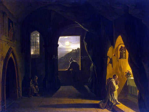 Francois-Marius Granet Monks in a Cave - Hand Painted Oil Painting