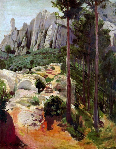 Santiago Rusinol Prats Monserrat - Hand Painted Oil Painting