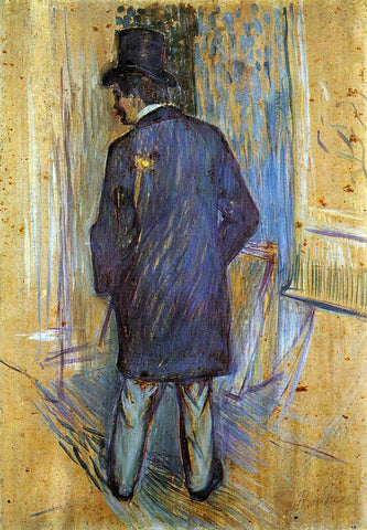 Henri De Toulouse-Lautrec Monsieur Louis Pascal from the Rear - Hand Painted Oil Painting