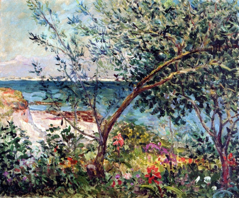 Maxime Maufra Monsieur Maufra's Garden by the Sea - Hand Painted Oil Painting