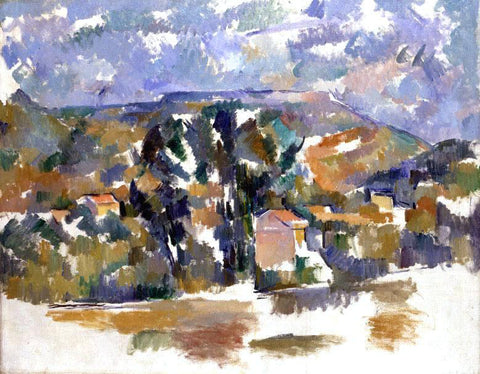Paul Cezanne Mont Sainte-Victoire Seen from Les Lauves - Hand Painted Oil Painting